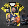 Paul George Slam magazine 3D Print T-shirt Short sleeve Cotton Unisex Summer Tee  player Shirts Teen Loose Homme Fans Tops Boy