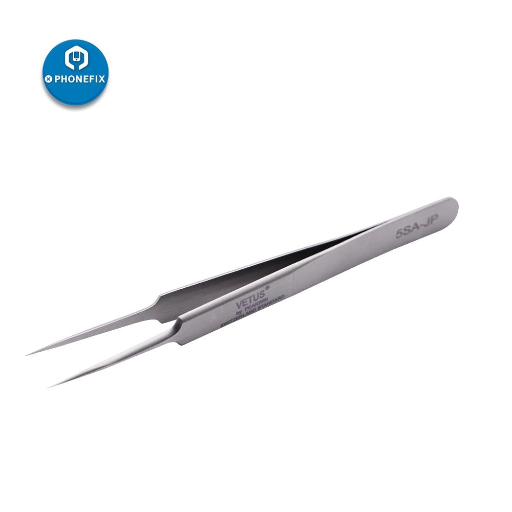 PHONEFIX VETUS 5SA-JP Stainless Steel Tweezers Mobile Phone Repair Hand Tool Motherboard Soldering Repair Tool For IPhone IPad