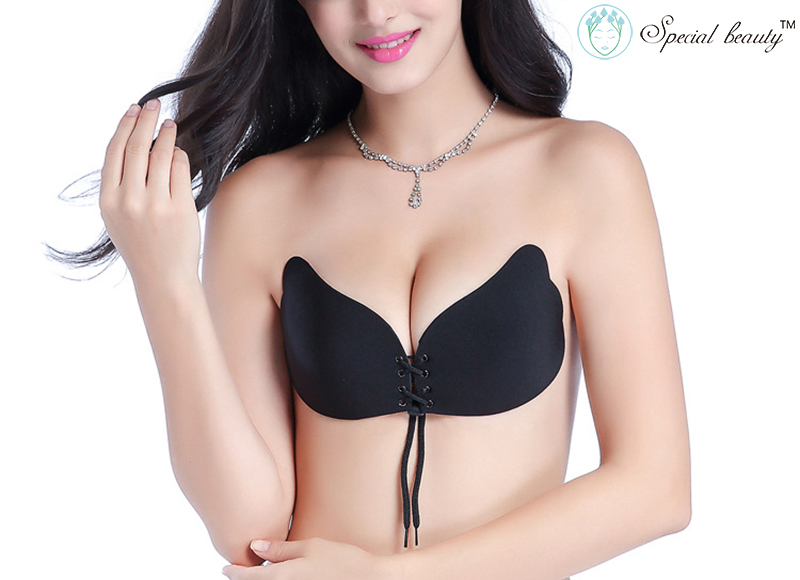 6f486c8a30a Ladies Invisible Bra Super Push Up Evening Dress With Wedding Self-adhesive  Repeated use Strapless