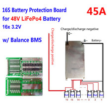 16 S 48 V Lithium cellules 45A batterie Protection BMS PCM carte avec équilibre(China)