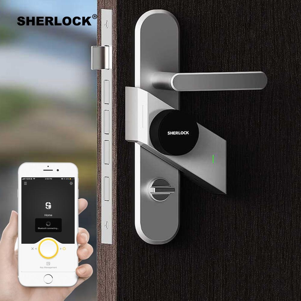 שרלוק S2 חכם מנעול דלת Keyless מנעול טביעת אצבע + סיסמא נעילה אלקטרונית אלחוטי App טלפון Bluetooth שליטה