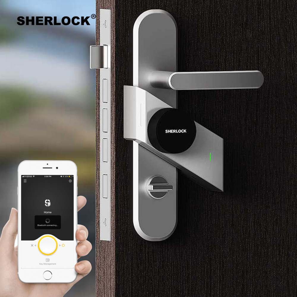 Sherlock S2 Smart Door Lock Home Keyless Lock Fingerprint + Password Work Electronic Lock Wireless App Phone Bluetooth Control 2017 high security wireless electronic door lock biometric smart door lock digital touch screen keyless fingerprint door lock