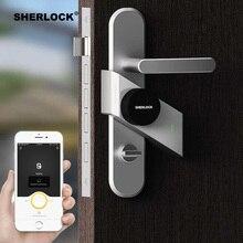Шерлок S2 умный дверной замок дома замок без ключа отпечатков пальцев + пароль работы электронный замок Беспроводной приложение телефон Bluetooth Управление