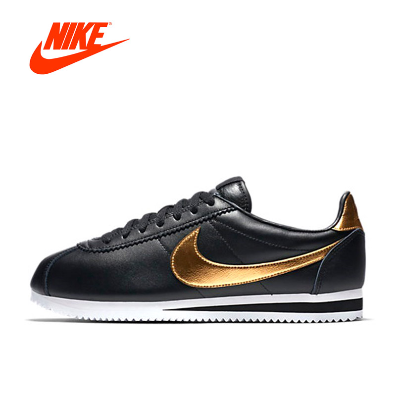 Official Men Black NIKE Sneakers CLASSIC CORTEZ SE Men's Waterproof Running Shoes Sports Sneakers Breathable Athletic Shoes nike men s indee high shoes athletic sneakers leather white