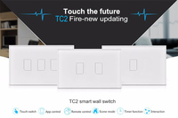 Broadlink TC2 3Gang 433MHZ Connection Wall Touch Panel Light Switch Remote Control US Standard For Smart