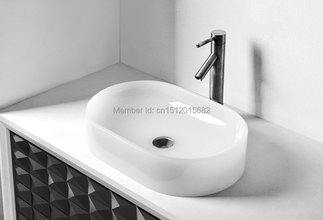 All NEW Colored Resin Acrylic HAND WASH BASIN Vanity Sink COUNTER TOP Oval  Wash Vessel 2014