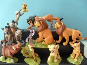 Free shipping classic cartoon The Lion King model pvc hand to do Xinba Ding Peng Penggong Aberdeen Man dolls 9pcs/set Christmas