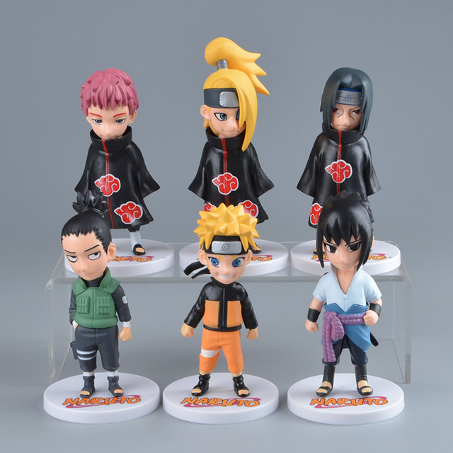 Naruto Action Figure Cute Pvc 6psc Set Figures Toy Japanese Anime