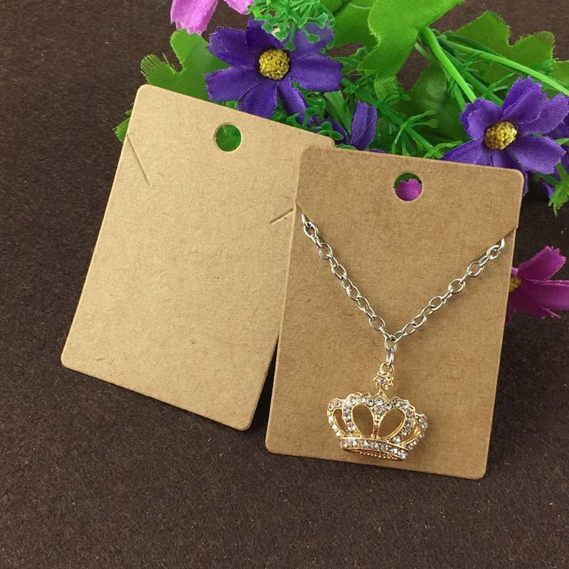Diy Bracelet Display Card: 2015 New Hot Blank Kraft Necklace Card &DIY Black Necklace