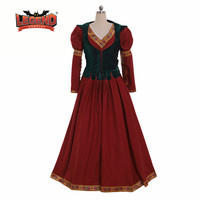 Medieval Vintage Dress corset For Women Renaissance faire cosplay Costume dress custom made