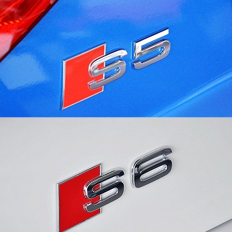 Car Styling Metal S Car Logo For Audi S Line A3 A4 A5 A6 A8 S3 S4 S5