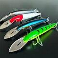 NOEBY 4 шт./лот большой с язычком  для мелкой рыбы приманка 64 7 г/185 мм 76 г/225 мм 4 цвета 3D глаза искусственная большая жесткая приманка  рыболовная ...