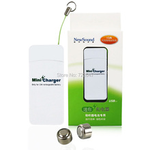 Hearing Aids Rechargeable Battery a13 / 13a  set for BTE Hearing Aid ( one charger with two batteries )