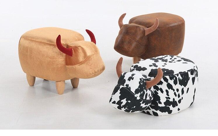 aliexpress koop 2017 nieuwe leuke aminal kruk koe voetenbank