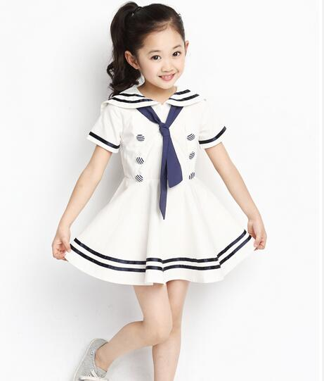 Symbol Of The Brand 100-160cm Kids Cosplay Disguise Costume Navy Sailor Uniform Dance Choir Party Holloween Carnival Performance Boys Army Clothing Strong Packing Home