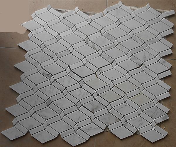 Raute Carrara Marmor Mosaik Fliesen Backsplash Kuche Wandfliese