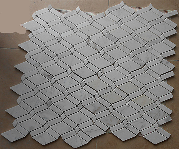 tienda online rombo carrara blanco mrmol azulejos de mosaico backsplash de la cocina azulejo suelo del bao etiqueta envo gratis aliexpress mvil