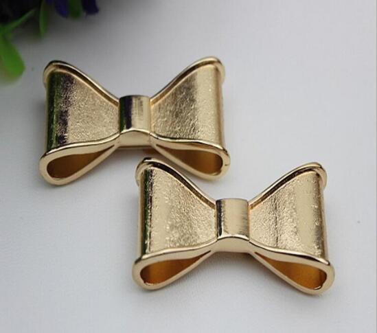 Free shipping (2 PCS/lot) high quality beautiful golden bow sandal shoes button clip DIY manual metal Shoe Decorations 20pcs lot free shipping 5 design diy hair accessory bow flowers pearl buttons alloy rhinestone button bt05