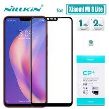 Xiaomi Mi 8 Lite Glass Nillkin CP+ Full Cover Xiaomi Mi8 Lite Tempered Glass Screen Protector for Xiaomi 8 Lite Nilkin HD Glass