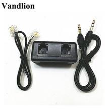 Vandlion Adapter telefoniczny dla dyktafon cyfrowy linii telefonicznej kabel Audio Line-in kabel wsparcie 3.5mm interfejs MIC