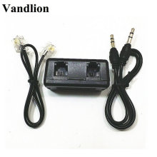 Vandlion Telephone Adapter For Digital Voice Recorder Telephone Line Audio Cable Line-in Cable Support 3.5mm MIC Interface