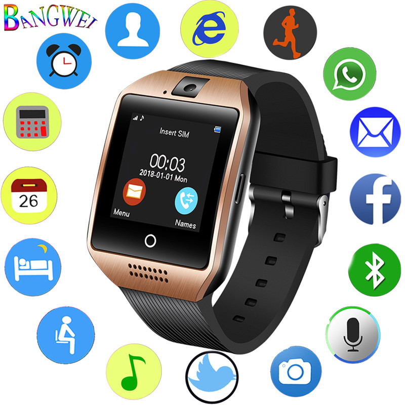 BANGWEI 2018 New Bluetooth Smart Men Watch Sport Pedometer with SIM Camera LED Touch Screen Smartwatch For Android Smartphone BANGWEI 2018 New Bluetooth Smart Men Watch Sport Pedometer with SIM Camera LED Touch Screen Smartwatch For Android Smartphone