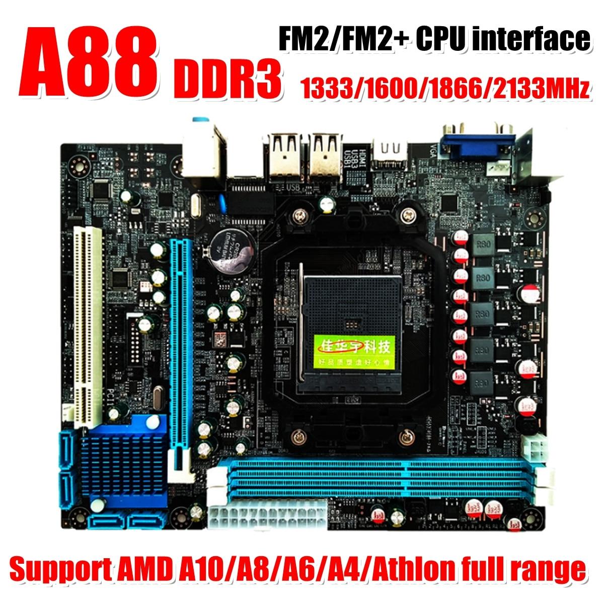 A88 FM2 FM2+ Mainboard Power Socket DDR3 Desktop Computer Motherboard MicroATX System Board Support AM3 938 Core Du
