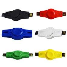 USBอยู่ไม่สุขปินเนอร์ความเครียดCube Uดิสก์EDCมือปั่นสำหรับออทิสติกหมุนเวลายาวต่อต้านความเครียดของเล่นสอง-s Pinnerอยู่ไม่สุขของเล่น