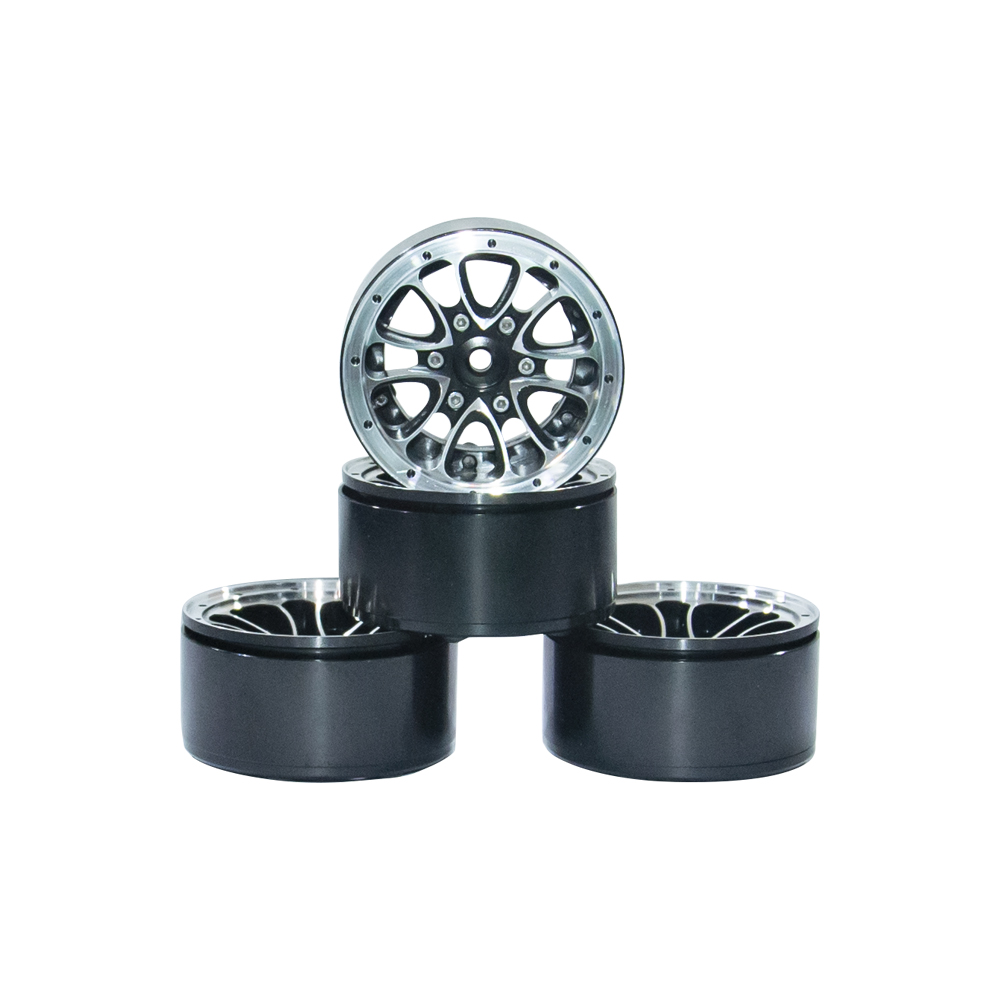 4PCS 1/10 Scale RC Car Crawler Wheel Rim 1.9Inch Heavy Duty Beadlock Alloy Spoke Wheel Rim For 1:10 RC4WD Axial SCX10 Tamiya D904PCS 1/10 Scale RC Car Crawler Wheel Rim 1.9Inch Heavy Duty Beadlock Alloy Spoke Wheel Rim For 1:10 RC4WD Axial SCX10 Tamiya D90