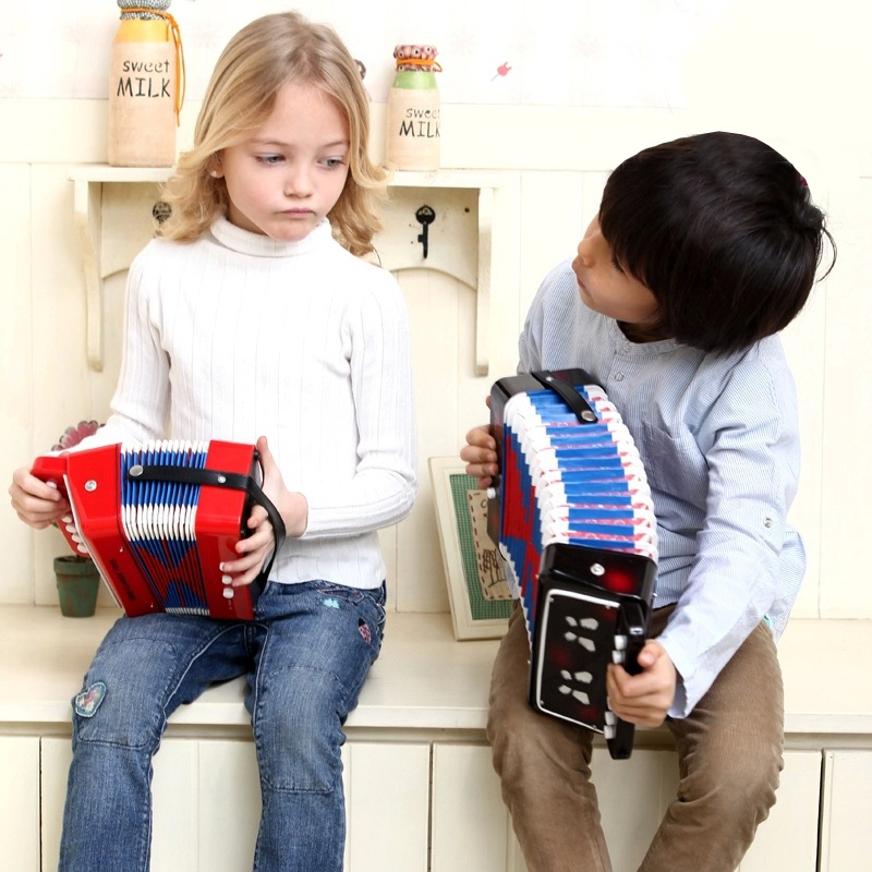 Children learning exercising type drawable Bass Accordion musical instrument educational ...