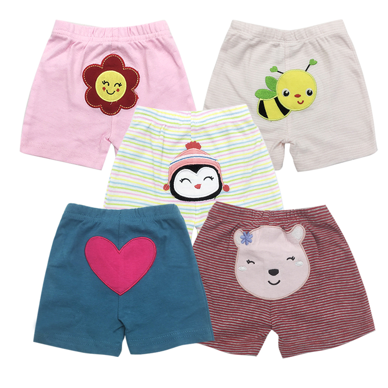 5pieces/lot Baby Shorts Summer Infant trousers for kids Boys Clothes Girl Cotton beach shorts Sport PP pant baby's Clothing