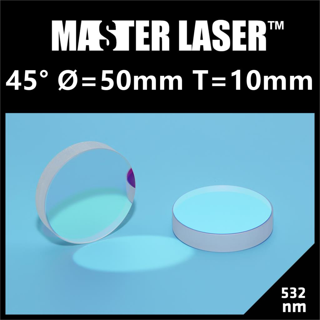 Dia 50mm Thickness 10mm 532nm YAG Laser Cutting Machine 45 Degree Reflect Mirror  Reflector Mirror combined beam mirror co2 laser machine diamete 20mm thickness 1 5mm 45 degreee reflect mirror