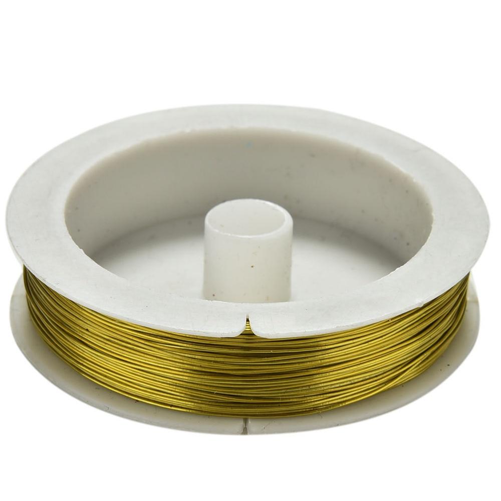 0.5mm 40m Iron Craft Wire Spool Soft DIY String Jewelry Craft Metal ...