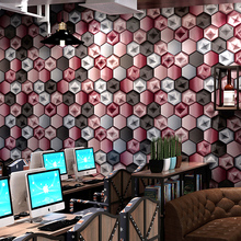 Modern Abstract Hexagon Wallpapers 3D Personalized Geometric Background Bar Shining Wall Paper Roll for Walls contact paper