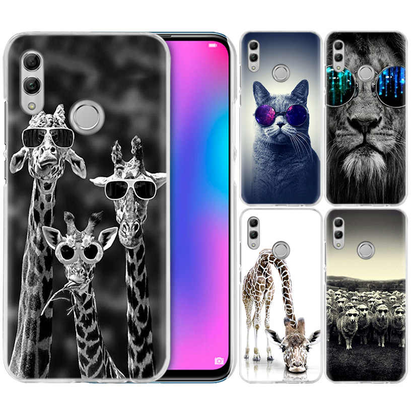 Glasses Cat Giraffe Case for Huawei Honor 8X Y9 9 10 Lite Play 7C 8C 8S 8A 7S 7A Pro V20 20i Y6 Y7 Y5 2019 Hard PC Phone Cover
