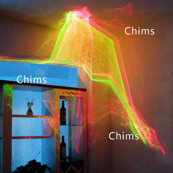 Chims Party Laser Light RGB Aurora LED Colorful Projector for Disco Dance Music Party Xmas Party DJ Bar Christmas Festival Show