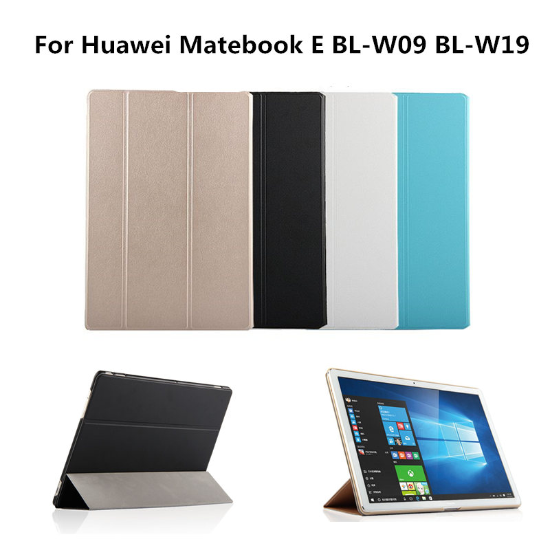 Folding PU Leather Protective Ultra-slim Case Shell with stand For Huawei MateBook E BL-W09 BL-W19 12 inch Tablet Luxury  Cover huawei matebook hz w19 256gb gold dock