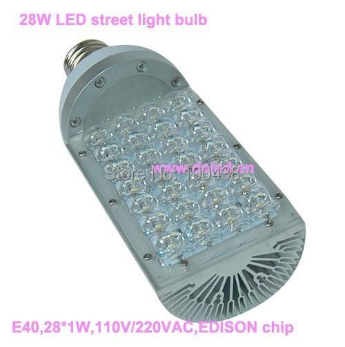3-year warranty,high power  28W E40 LED bulb,LED Street bulb,110V/220VAC,good quality,DS-SL-1-E40-28W, sale ac85 265v 60w led street light ip65 bridgelux 130lm w led led street light 3 year warranty 1 pcs per lot