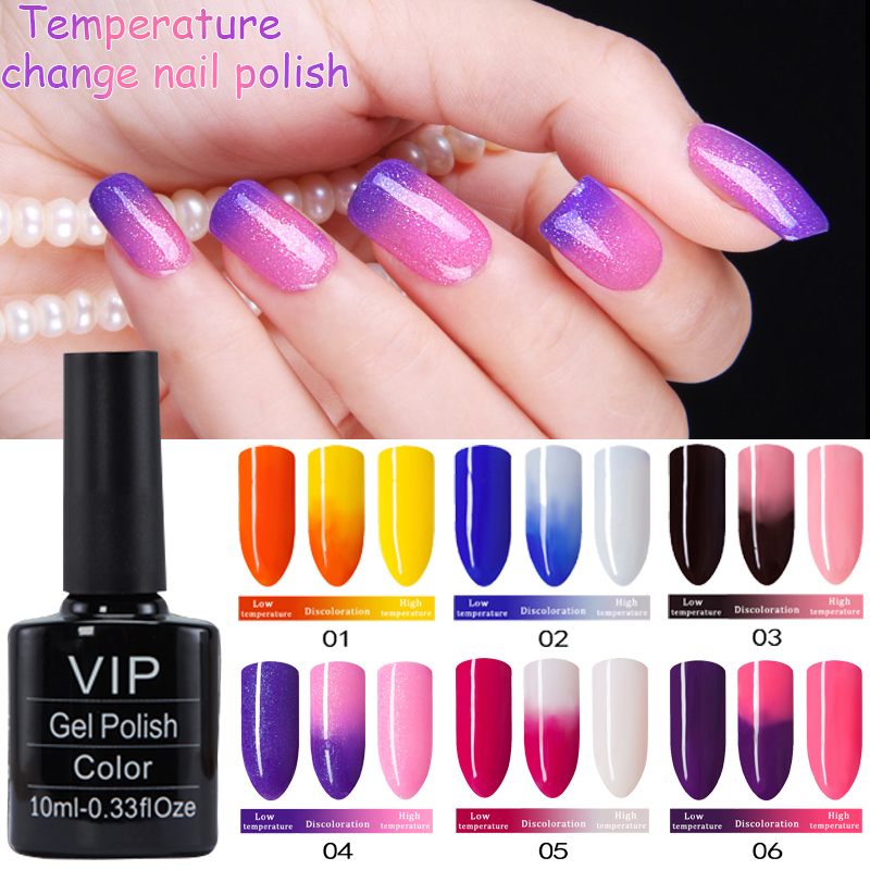 MDSKL Temperature Changing Gel Nail Polish Long-lasting Nail Gel 10ML/Bottle Nail Art Soak-Off UV&LED Gel Polish