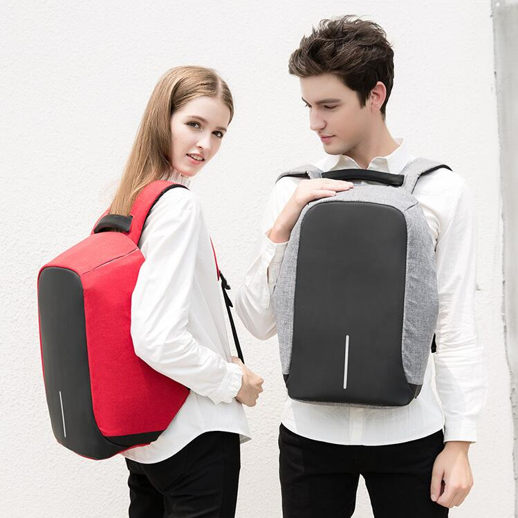Anti theft large capacity nylon backpack students travel USB charging backpack laptop men's and women's backpacks point systems migration policy and international students flow