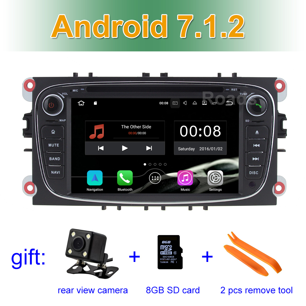2 GB RAM Android 7.1 Car DVD Player for FORD/Focus/S-MAX/Mondeo/C-MAX/Galaxy Wifi BT Radio GPS Navigation