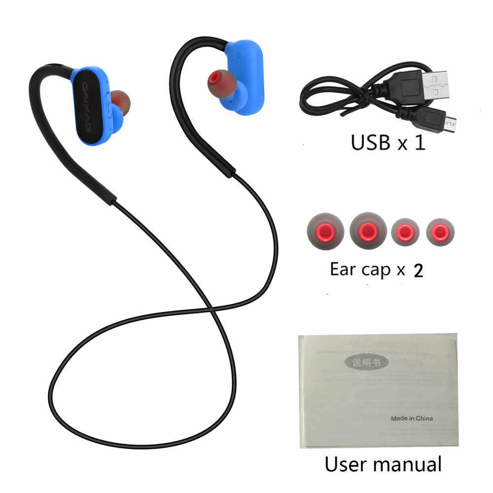 Najnowszy Bluetooth 4.2 bezprzewodowe słuchawki Stereo sportowe z pałąkiem na kark słuchawki douszne słuchawki douszne lekki zestaw słuchawkowy do iPhone'a dla systemu android