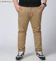 UMMEWALO Grote En Lange Casual Broek Mannen Slim Fit Stretch Straight broek Mannelijke Designer Big Size Broek Plus Size 27-42 44 46 48