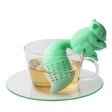 Tea Infuser Silicone Cute Squirrel Shape Tea Coffee Loose Le