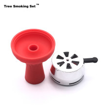 Red Bowl Six Hole Kaloud Hookah Shisha Chicha Narguile Nargile Smoking Pipe Shisha Accessories Cachimba Christmas Gift TWAN0356 single hole silicone silica gel hookah tobacco bowl for shisha hookahs chicha narguile nargileh accessories gadget gift twan0356