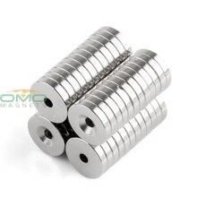 ОМО Magnetics N35 48 pcs Сильный неодима Круглый Кольцо цилиндров с потайной отверстия 3 MM магниты 15mm x 3mm