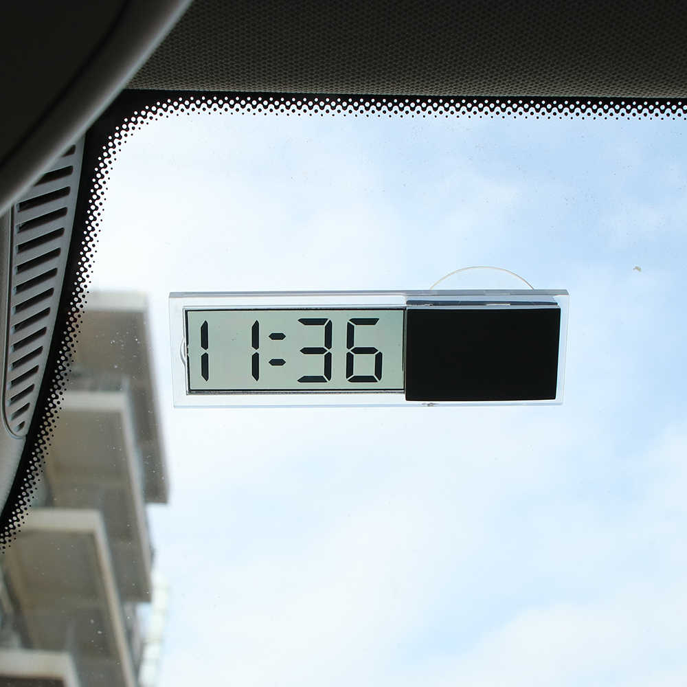 Onever In-car Electronic Clock Windshield Paste Car Digital Clock Digital Window Thermometer LCD High Quality Car Accessories