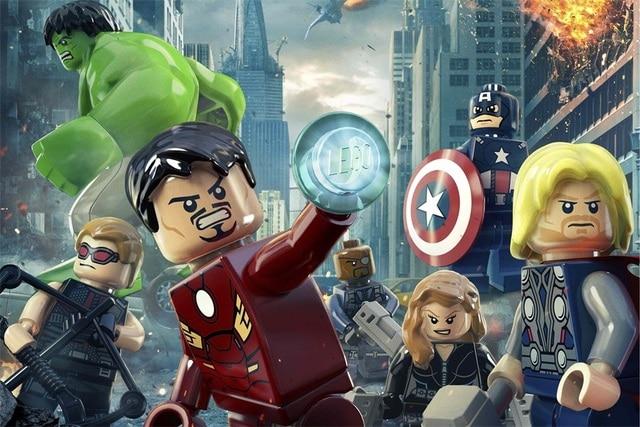 Custom Mural Lego Wallpaper Lego Poster Iron Man Sticker Marvel ...