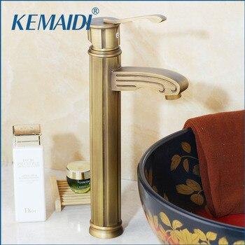 KEMAIDI Bathroom Basin Sink  Faucets Antique Brass Deck Mounted Torneira Banheiro Single Handle/Hole Mixer Tap Single Handle