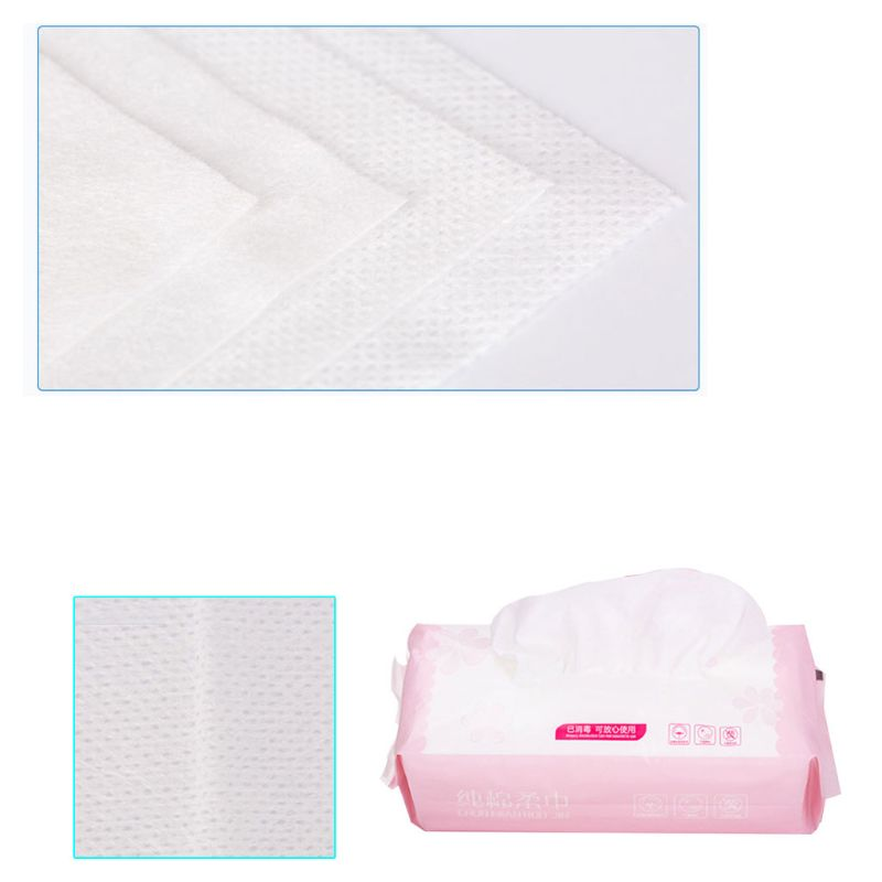 80Pcs Pack Net Weave Disposable Cotton Towel Washing Face Pad Removable Tissue Cosmetic Makeup Remover Tool Wet Dry Cloth Wipes in Toilet Tissue from Beauty Health